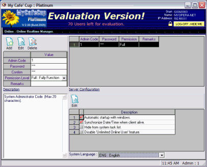 Cyber Cafe Administration Software