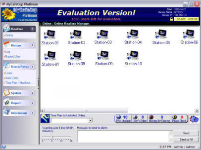 INTERNET CAFE SOFTWARE / CYBERCAFE SOFTWARE / GAMING CAFE SOFTWARE